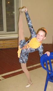 На гимнастике