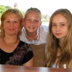На речном трамвайчике с московскими знакомыми: Еленой (мамой) и Лизой (дочкой)