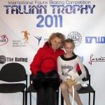 Мы с Валентиной Михайловной на Таллин Трофи 2011 после короткой программы