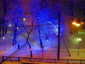 Зимняя сказка за нашим окном