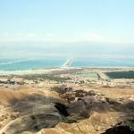 Вид на мертвое море с горы Массада