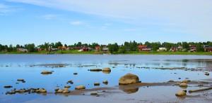Поселок Содра Сандербин рядом с Лулео (Швеция),  в котором проходят сборы по фигурному катанию
